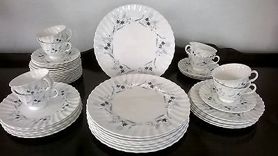 """Vintage 1950's Royal Doulton """"Millefleur"""" Bone China Dinner Dishes~ 45 Pieces~"""