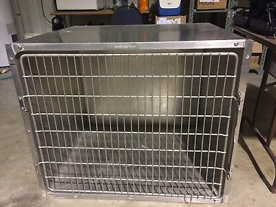 Shor-Line Stainless Steel Kennel Cages 36X29X30 Cat Dog Grooming Used