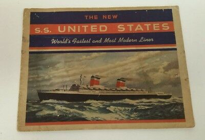 UNITED STATES LINES SS AMERICA Brochure 1953