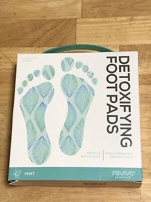 Revive Yourself Detoxifying Foot Pads 10 Count (5 Pair) Mint