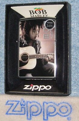 ZIPPO  MUSIC Lighter BOB MARLEY with GUITAR Mint in Box NEW OLD STOCK No Lid