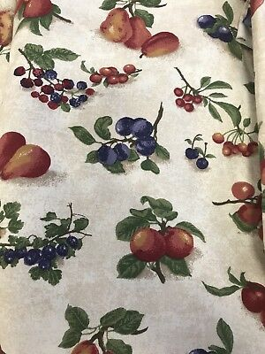 New Longaberger Rare Retired Fruit Medley Fabric - One Yard - (30 Yds. Available