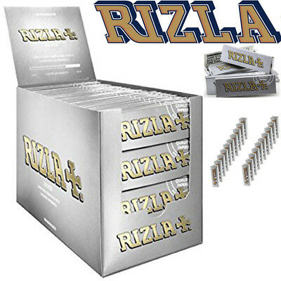 *100% GENUINE RIZLA SILVER Regular /Standard Size Rolling Tobacco Smoking Paper