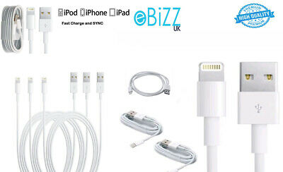 Charger Cable iphone 5 6 7 8 X Plus Charging Apple ipad ipod USB Sync Data Lead
