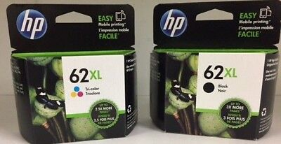 HP Genuine 62XL B/C Ink Cartridges In OEM Bags HP ENVY 5540,5643,5542,5544,5545