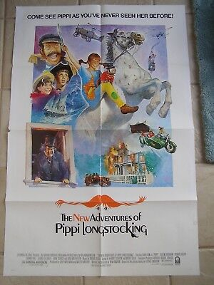 Vintage Movie Poster 1 Sheet 1988 The New Adventures of Pippi Longstocking