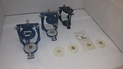 DENTAL HINGE ARTICULATORS  with magnetic plates (LOT of 3 units)