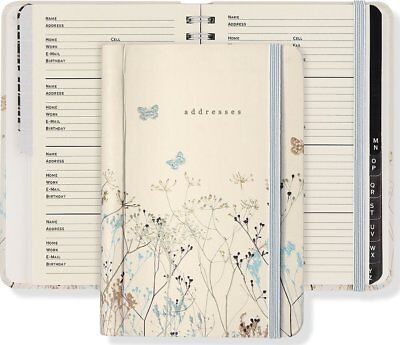 Pocket Book A To Z Name Address & Telephone Number Hardcover Butterflies