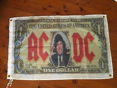 Aus rock sign Man cave flag acdc band poster bar wallhanging print garage AC DC