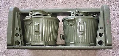 Original Ww2 German Mg34~Mg42 Twin Basket Carrier With Drums Post War Paint Euc