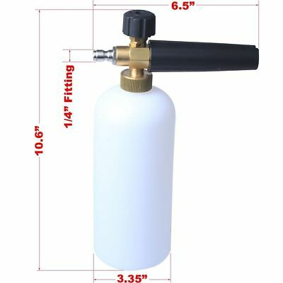 Pressure Washer Jet Wash 1/4 Quick Release Adjustable Snow Foam CAR WASH CLEAN