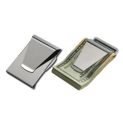 Quality  Double Sided Stainless Steel Money Clip Wallet Credit Card Holder