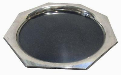 Drink Serving Tray Art Deco Taunton USA Silverplate Octagon 8 Sided 29 cm