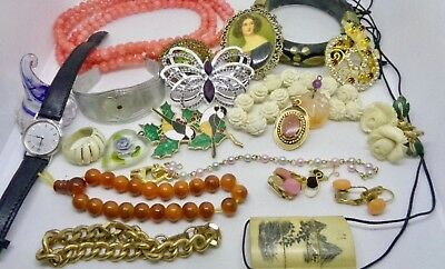 Large Vintage Lot of Assorted Costume Jewelry Mixed Lot! Awesome Items!