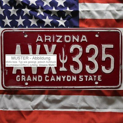 -1- ARIZONA Nummernschild ^ US Kennzeichen Maroon-Typ ^ (Optional USA Deko Tuch)