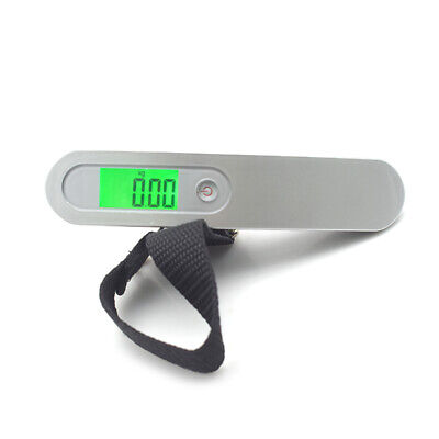 110lb 50kg Portable Travel Tare Hanging Digital Suitcase Luggage Scale Weight