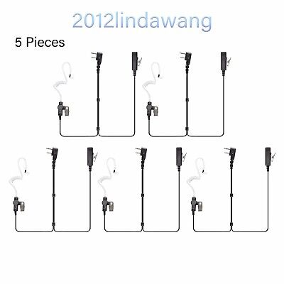 Lot 5 Palm Mic with Earpiece Earphone for ICOM IC-F34 IC-F43 IC-F4021 Radio
