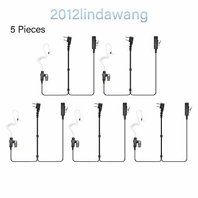 Lot 5 Palm Mic with Earpiece Earphone for ICOM IC-F4000 F4001 F4002 F4003 Radio