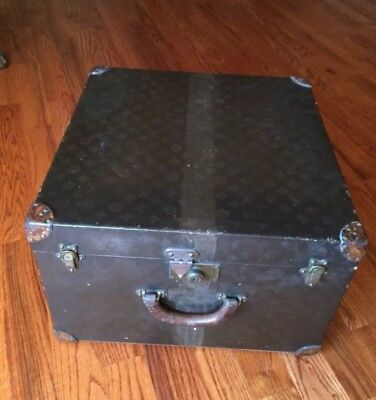 Vintage Louis Vuitton Trunk Hat Box Steamer Coffee End Table Hat Box 1920s