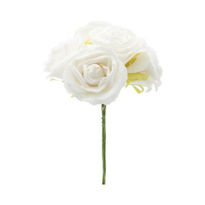 NEW Vivaldi Blossoms 5 Head Foam Rose Bunch By Spotlight
