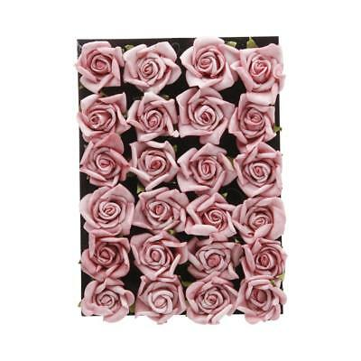 NEW Vivaldi Blossoms Foam Rose Head 24 Pack By Spotlight