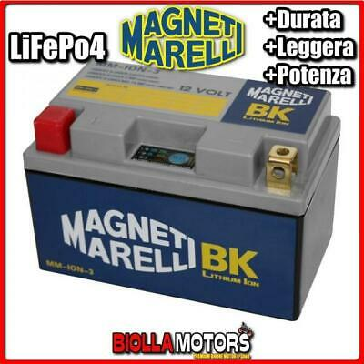 Mm-Ion-3 Batteria Litio Ytz10S-Bs Yamaha Mt07 Mt-07 700 2015- Magneti Marelli Yt