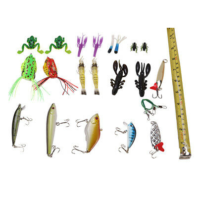 141X Trout Bass Fishing Lures Crankbaits Set Freshwater Saltwater Bait Hook