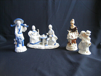 4 China Ornaments - Figurines - Ceramic Ornaments - Assorted - Display - W268