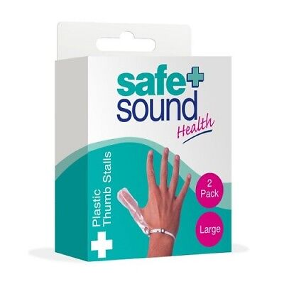 Safe + Sound Plastic Thumb Stalls Large - 2 Pack