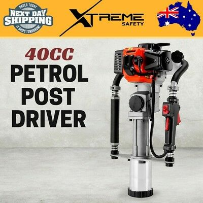 New 40CC 2 Stroke Petrol Post Driver Pile Star Picket Rammer Fence Baumr-AG