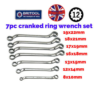 6 Piece Ring Spanner Set From Britool England