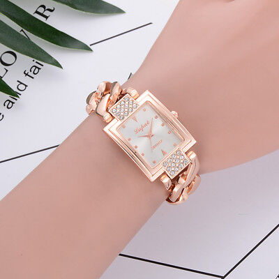 Women's Fashion Luxury Quartz Bracelet Stainless Steel Dress Casual Watch Gift
