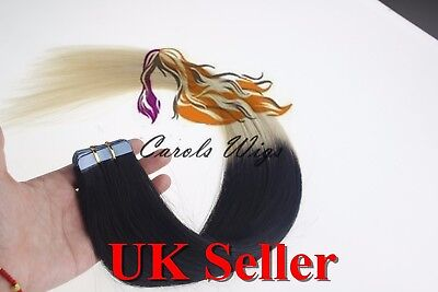 "16"" 50g REMY RUSO eslavo Dobles 7a EXTENSIONES DE PELO NATURAL germantape"