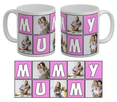 Personalised 5 Photo Mug Mummy Collage Family Gift Tea Coffee Cup Mother Day Mum