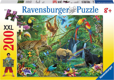 12660 Ravensburger Jungle Xxl 200Pc [Children's Jigsaw Puzzle] New In Box!