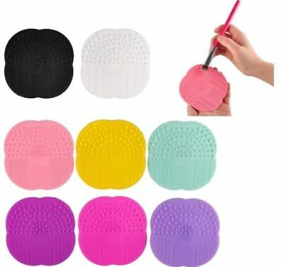 100% Quality Silicone Makeup Brush Cleaner Cosmetic Scrubber Board Mat Pad -UK