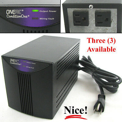 ONEAC PC120A ConditionOne Two-Outlet Clean Voltage Power Conditioner 120v