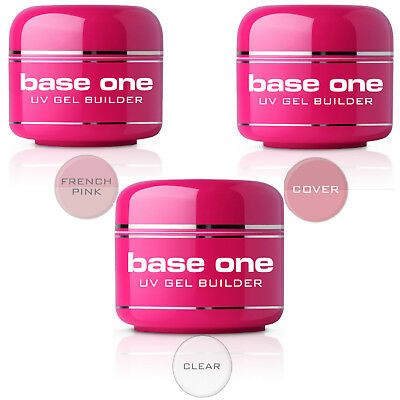 Silcare Base One Clear Cover French Pink Nude Nail Builder Building UV Gel