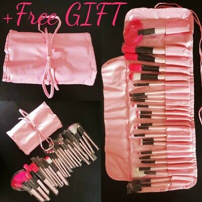 Eye Make Up Brushes 24pcs Set Professional Cosmetics Kit Organizer Eyeliner+GIFT