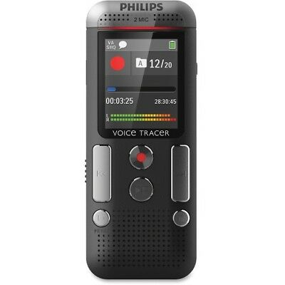 NEW Philips DVT2510/00 Voice Tracer Audio Recorder (DVT2510/00) 1.8-in 8GB