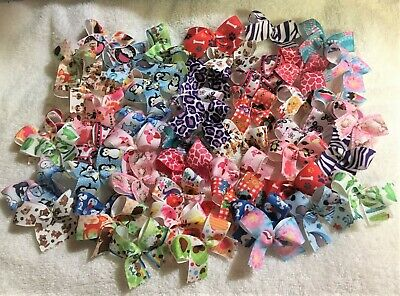Dog Grooming Bows 50 MED Dog Bows Variety Pack Quality Grosgrain ribbons USA