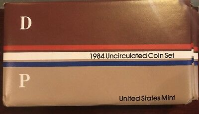 1984 UNITED STATES US MINT UNCIRCULATED COIN SET in Cello* Phily & Denver MINT