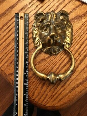 Vintage ~ Brass ~ Lion Head Door Knocker