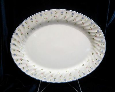 Johnson Brothers Melody Oval Serving Platter - 11.75 in. - Blue Trim - England