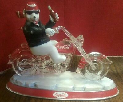 """Coca-Cola Cruisers collection Polar bear on motorcycle """"One Cool Ride"""""""