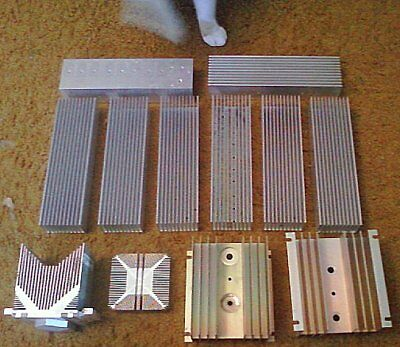 13 Piece Lot*Aluminum Heat Sinks*5 Sizes*Reclaimed/USED*FREE Shipping