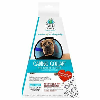 21st Century Calm Paws Inflatable Protective E-Collar For Dog Injuries Recovery