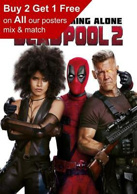 Deadpool 2 Movie Teaser Poster A5 A4 A3 A2 A1