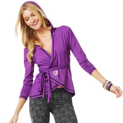 Zumba Fitness El Fab Futuro Wrap Jacket, Quick Dry Material, Brand New With Tags