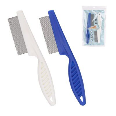 2 for $5.99 - Blue or White Pet Dog Hair Flea Stainless Pin Cat Grooming Comb
